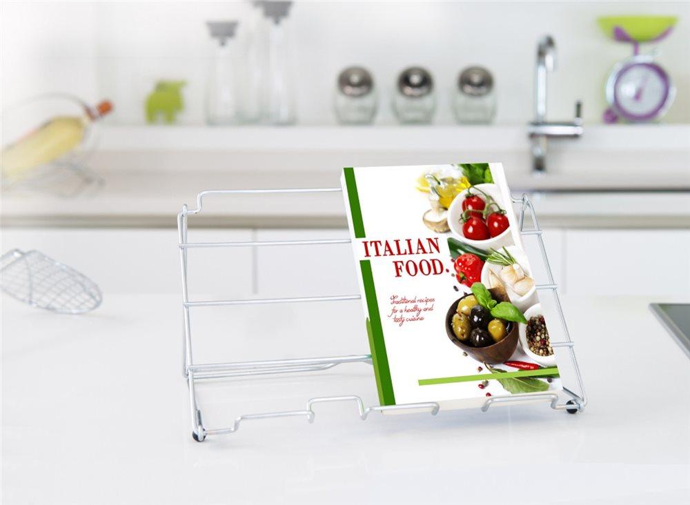 Leggio da cucina filo d´acciaio cromato - Tom Press