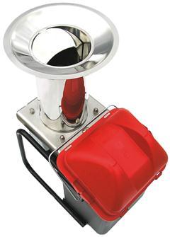 Macina mele elettrico inox con secchio, 300 kg/h