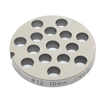 Piastra 10 mm inox per tritacarne n.12