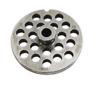 Piastra 12 mm in inox per tritacarne n.32