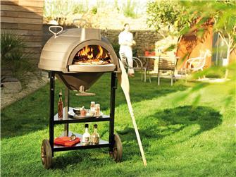 Forno a legna in ghisa multifunzione pane pizza grigliate con ruote