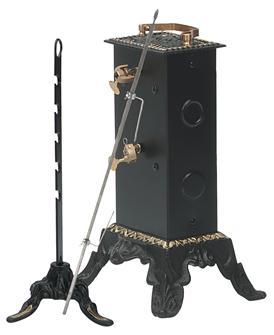 Girarrosto elettrico, 2 motori, capacità 8 kg, distanza 8 cm