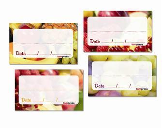 Etichetta per marmellate di frutta e confetture (84 pz.)