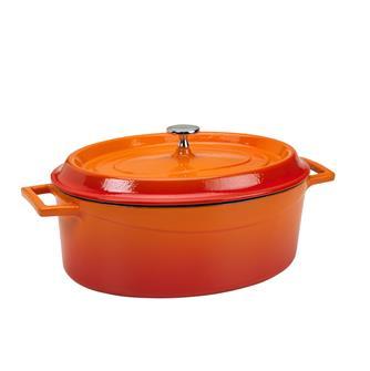 Cocotte ovale 29x22 color arancio