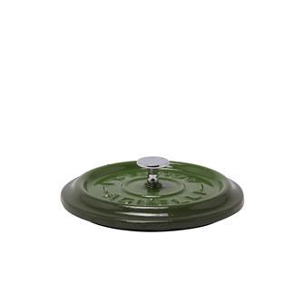 Coperchio rotondo color verde in ghisa