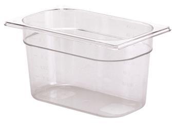 Contenitore per alimenti senza BPA GN 1/4 h.15 cm copoliestere