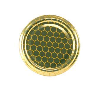Capsule twist-off con miele e alveoli. Diam. 63 mm (10 pz).