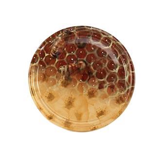 Capsule (tappi) twist-off per miele. Disegno con fiori e alveoli. Diam. 82 mm (10 pz.)