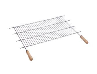 Griglia barbecue inox tagliabile in larghezza 62,5/72,5x40 cm