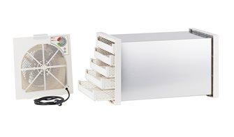 Disidratatore essiccatore tunnel inox con termostato 5 vassoi in plastica