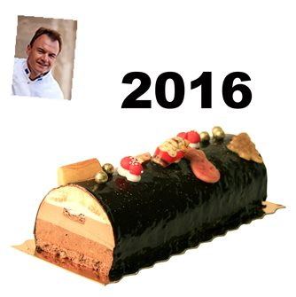 Il tronchetto di Natale ai 3 cioccolati e Sacher dello chef Tenailleau