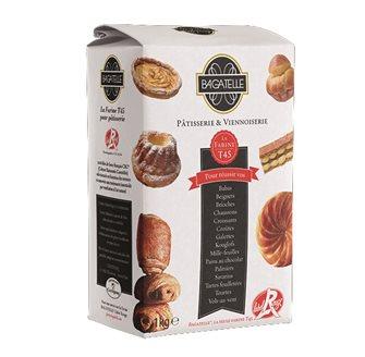 Farina di grano tenero T45 per dolci da agricoltura sostenibile 1kg