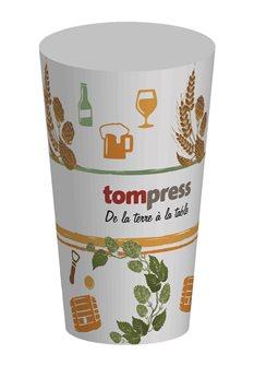 Bicchieri riutilizzabili Tom Press disegno birra