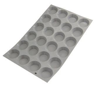 Stampo silicone per 24 mini tortine tonde