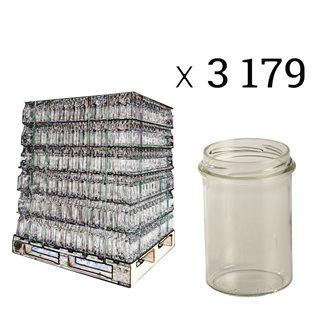 Vaso per miele in vetro. Capacità 228 ml (bancale da 3179)