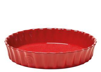 Tortiera alta rosso Grand Cru Emile Henry 28 cm.
