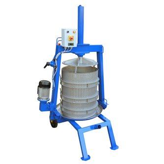 Torchio idraulico elettrico inox 128 litri diam. 50 cm