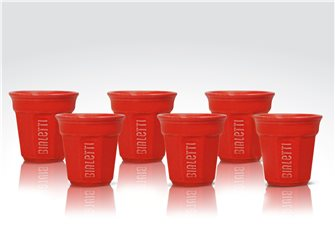 Lot de 6 tasses Bialetti rouges