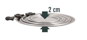 Set 3 coperchi inox per 9 diversi diametri da 14 a 30 cm
