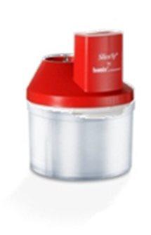 Mini tritatore SliceSy rosso per mixer a immersione BAMIX