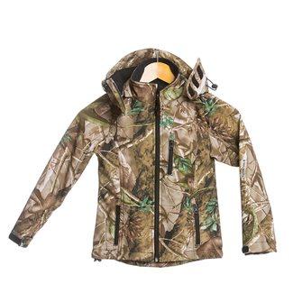 Giaccone bambino 8 anni camouflage foglia  Bartavel Buffalo softshell