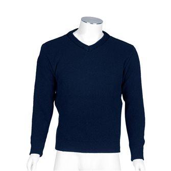 Maglione uomo blu marino collo V Bartavel Gers XL