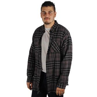 Camicia uomo grigia maniche lunghe Bartavel Ande 3XL