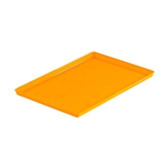 Vassoio arancio in silicone per cuocere frutta nel disidratatore