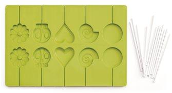 Stampo per lecca-lecca in silicone con bastoncini