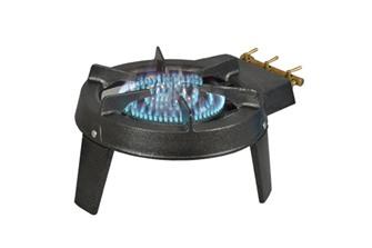 Réchaud à gaz 7100 W avec 3 robinets et 3 pieds