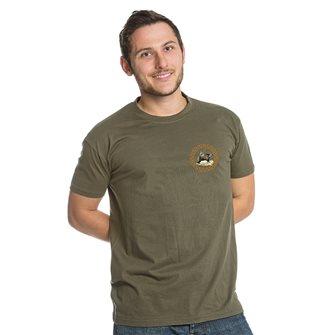 T-shirt kaki Bartavel Nature caccia toppa cinghiale XL