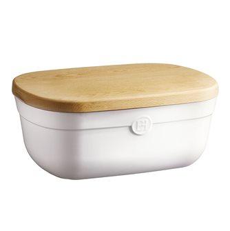 Porta pane bianco Emile Henry con tagliere in legno