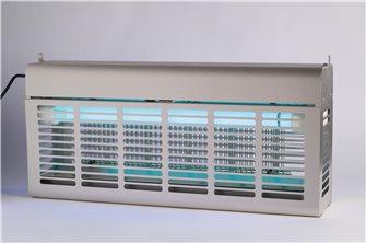 Distruttore di insetti elettrico inox 2x20W per 120 m²