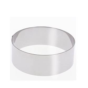 Stampo a cerchio inox 18 cm h.6 cm per cheesecake e altri dolci
