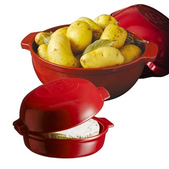 Kit diavola per patate e terrina da forno per formaggio rossa Cheese Baker Grand Cru Emile Henry