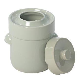 Vaso per crauti/lattofermentazione 5 litri verde acqua