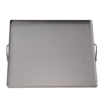 Piastra 40x40 cm in acciaio con maniglie tutti i fornelli, forno e barbecue