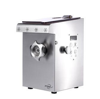 Tritacarne refrigerato compatto inox doppio taglio H82 1 100W trifase