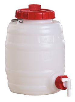 Barile cilindrico alimentare da 10 l.