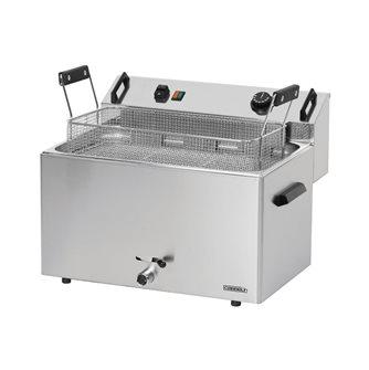 Friggitrice elettrica professionale per ciambelle da 16 litri trifase con rubinetto