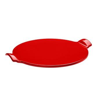 Pizza Stone liscio 37 cm rosso Coquelicot Emile Henry