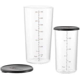 Set di 2 tazze in vetro borosilicato Bamix da 400 e 700 ml
